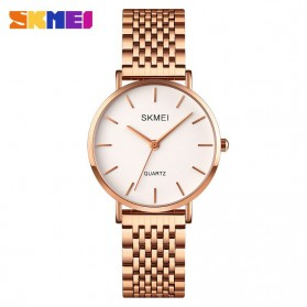 SKMEI Jam Tangan Analog Wanita Stainless Steel - Q027 - Rose Gold
