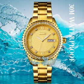 SKMEI Jam Tangan Mechanical Pria Automatic Movement - 9221 - White/Gold - 6