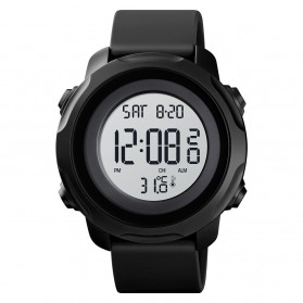 SKMEI Jam Tangan Digital Pria with Thermometer - 1682 - Black White - 1