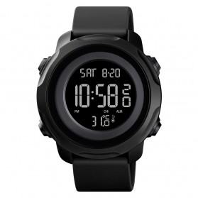 SKMEI Jam Tangan Digital Pria with Thermometer - 1682 - Black/Black