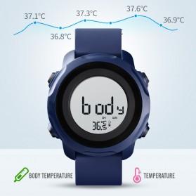 SKMEI Jam Tangan Digital Pria with Thermometer - 1682 - Black/Black - 7