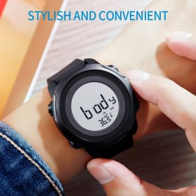 SKMEI Jam Tangan Digital Pria with Thermometer - 1682 - Black/Black - 8