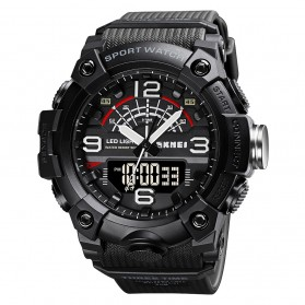 SKMEI Jam Tangan Analog Digital Pria - 1619 - Black