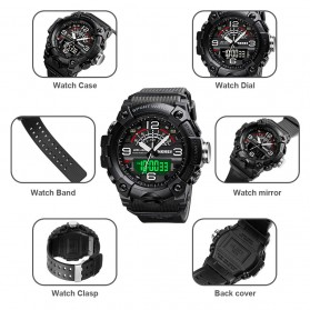 SKMEI Jam Tangan Analog Digital Pria - 1619 - Black - 7