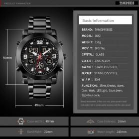 SKMEI Jam Tangan Analog Digital Pria - 1642 - Black - 8