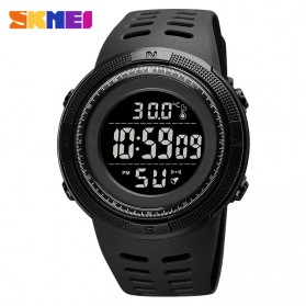 SKMEI Jam Tangan Digital Pria Body Temperature - 1681 - Black/Black