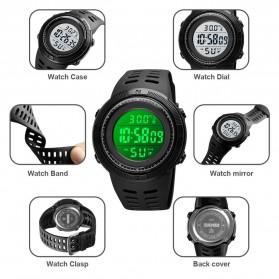 SKMEI Jam Tangan Digital Pria Body Temperature - 1681 - Black/Black - 2