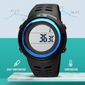 SKMEI Jam Tangan Digital Pria Body Temperature - 1681 - Black/Black - 5