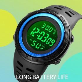SKMEI Jam Tangan Digital Pria Body Temperature - 1681 - Black/Black - 6
