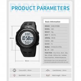 SKMEI Jam Tangan Digital Pria Body Temperature - 1681 - Black/Black - 8