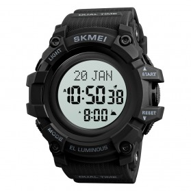 SKMEI Jam Tangan Digital Sporty Pria - 1680 - Black with White Side