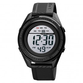 SKMEI Jam Tangan Digital Sporty Pria - 1638 - Black with White Side