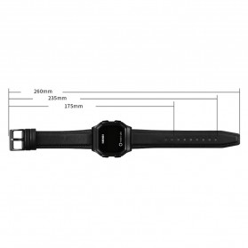 SKMEI Jam Tangan Digital Pria Leather Strap - 1650 - Silver - 7