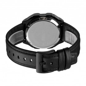 SKMEI Jam Tangan Digital Pria Leather Strap - 1650 - Silver - 9