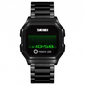 SKMEI Jam Tangan Digital Pria Stainless Steel  Strap - 1650 - Black