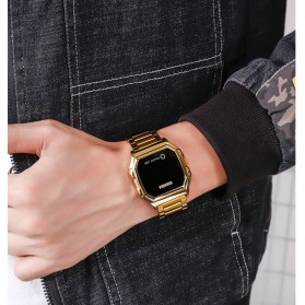 SKMEI Jam Tangan Digital Pria Stainless Steel  Strap - 1650 - Black - 4