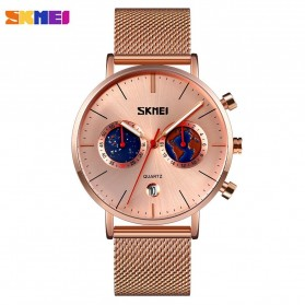 SKMEI Jam Tangan Analog Pria Strap Stainless Steel - 9231 - Rose Gold