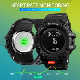 SKMEI Jam Tangan Olahraga Heartrate Smartwatch Bluetooth - 1643 - Army Green - 4