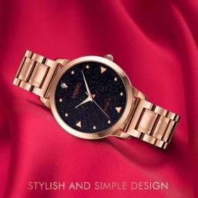 SKMEI Jam Tangan Analog Wanita Strap Stainless Steel - 1661 - Rose Gold - 4