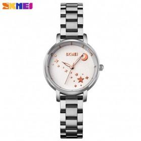 SKMEI Jam Tangan Analog Wanita Strap Stainless Steel - 1708 - White/Silver - 1