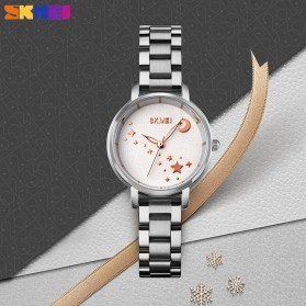 SKMEI Jam Tangan Analog Wanita Strap Stainless Steel - 1708 - White/Silver - 5
