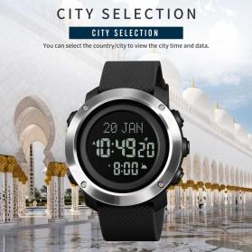 SKMEI Jam Tangan Digital Pria Penunjuk Arah Kiblat ABS Ring - 1728 - Black/Black - 2