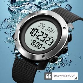 SKMEI Jam Tangan Digital Pria Penunjuk Arah Kiblat ABS Ring - 1728 - Black/Black - 3