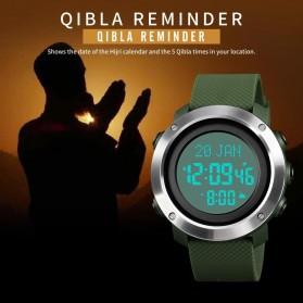 SKMEI Jam Tangan Digital Pria Penunjuk Arah Kiblat ABS Ring - 1728 - Black/Black - 4