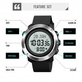 SKMEI Jam Tangan Digital Pria Penunjuk Arah Kiblat ABS Ring - 1728 - Black/Black - 5