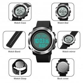 SKMEI Jam Tangan Digital Pria Penunjuk Arah Kiblat ABS Ring - 1728 - Black/Black - 6