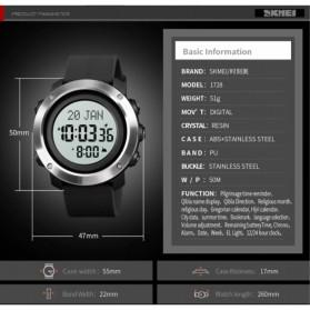 SKMEI Jam Tangan Digital Pria Penunjuk Arah Kiblat ABS Ring - 1728 - Black/Black - 7