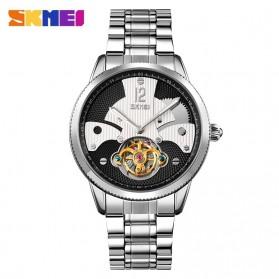 SKMEI Jam Tangan Mechanical Pria Automatic Movement Tourbillon - 9205 - Silver