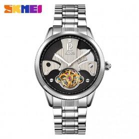 SKMEI Jam Tangan Mechanical Pria Automatic Movement Tourbillon - 9205 - Gray Silver