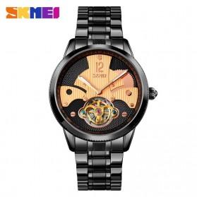 SKMEI Jam Tangan Mechanical Pria Automatic Movement Tourbillon - 9205 - Rose Gold/Black