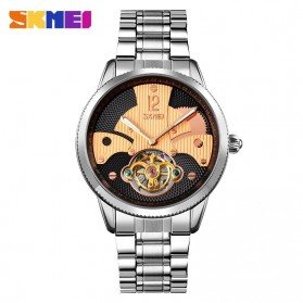 SKMEI Jam Tangan Mechanical Pria Automatic Movement Tourbillon - 9205 - Rose Gold/Silver