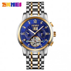 SKMEI Jam Tangan Mechanical Pria Automatic Movement - M029 - Golden/Blue