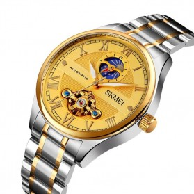 SKMEI Jam Tangan Mechanical Pria Automatic Movement - M024 - Golden/Silver