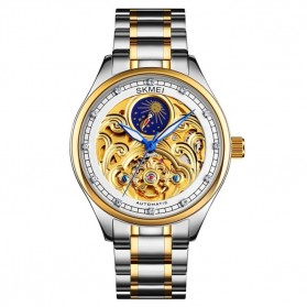SKMEI Jam Tangan Mechanical Pria Automatic Movement - M025 - Golden/Silver