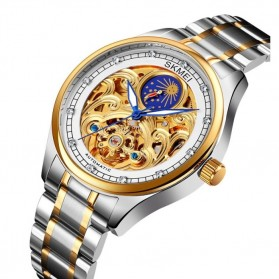 SKMEI Jam Tangan Mechanical Pria Automatic Movement - M025 - Golden/Silver - 2
