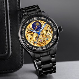 SKMEI Jam Tangan Mechanical Pria Automatic Movement - M025 - Golden/Silver - 4