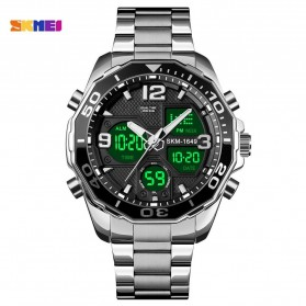 SKMEI Jam Tangan Analog Digital Pria Stainless Steel - 1649 - Silver