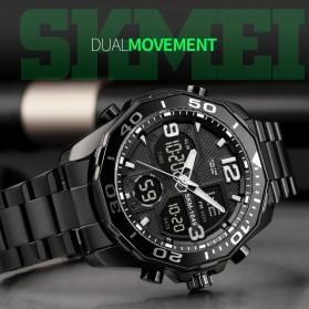 SKMEI Jam Tangan Analog Digital Pria Stainless Steel - 1649 - Silver - 4
