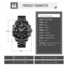 SKMEI Jam Tangan Analog Digital Pria Stainless Steel - 1649 - Silver - 8