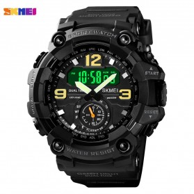 SKMEI Jam Tangan Analog Digital Pria - 1637 - Black