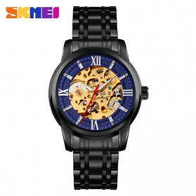 SKMEI Jam Tangan Mechanical Pria Automatic Movement - 9222 - Black/Blue