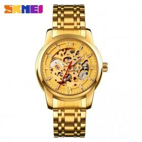 SKMEI Jam Tangan Mechanical Pria Automatic Movement - 9222 - Golden