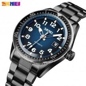 SKMEI Jam Tangan Analog Pria Strap Stainless Steel - 9232 - Silver Black - 2