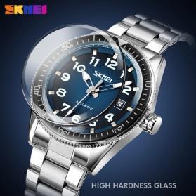 SKMEI Jam Tangan Analog Pria Strap Stainless Steel - 9232 - Silver Black - 3