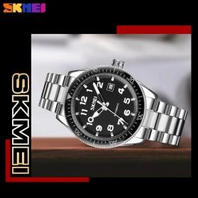 SKMEI Jam Tangan Analog Pria Strap Stainless Steel - 9232 - Silver Black - 4