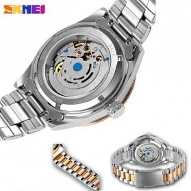 SKMEI Jam Tangan Analog Pria Strap Stainless Steel - 9232 - Silver Black - 5